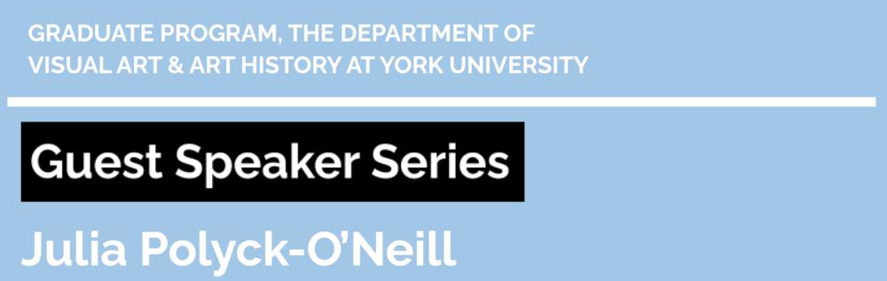 Guest Speaker SeriesJuliaPolyck-O'Neill